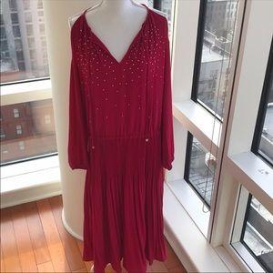 MICHAEL KORS NWT Studded Cold Shoulder Dress